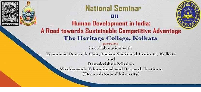 National Level Seminar on Human Development in India at The Heritage Campus on 18th & 19th January, 2019